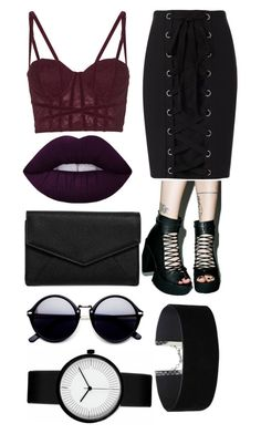 """""""Untitled #184"""" by bandsdestroyamylife on Polyvore featuring Topshop, T.U.K., Exclusive for Intermix, Lime Crime, LULUS and Miss Selfridge"""