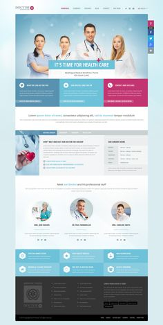 Buy Doctor+: Responsive Medical WordPress Theme by ait on ThemeForest. Doctor+ is a successor of our previous Doctor WordPress Theme. Website Layout, Web Layout, Website Design Inspiration, Wordpress Theme, Medical Websites, Health Images, Medical Design, Best Web Design, Health Logo