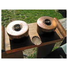 DURAGLASS Vintage Copper Desk SET  Two Lidded Jars by HomeIdaho, $40.00