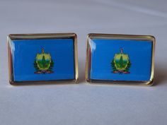 Vermont State Flag Cufflinks by LoudCufflinks on Etsy, $25.00