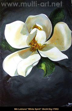 #marieandreeleblond #art #canadianartist #quebecartist #painting #magnolia #flowers #multiartltee #balcondart