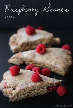 These vegan scones are my favorite! They are so good; you'll stuff your face with them! Made with equal parts raw applesauce and maple syrup they pack just the right amount of sweetness yet at the same time are cane sugar-free. These plant-based scones are also made with Himalayan salt, which contains a variety of trace minerals and less sodium than other salts. It's pretty much the ninja of the salt kingdom. Raw Desserts, Vegan Dessert Recipes, Delicious Vegan Recipes, Whole Food Recipes, Breakfast Recipes, Snack Recipes, Health Breakfast, Vegan Breakfast, Breakfast Ideas