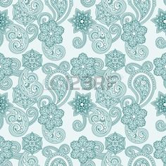seamless paisley background,
