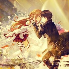 Kagome and inuyasha will always be my favorite anime couple but these two are my new number 2 (kirito and asuna) ♥