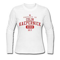 Cute Colin Kaepernicks Womens Long Sleeve Shirt/Jersey