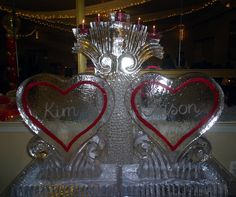 red hearts ice sculpture | Heart Sculptures