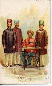 1800s TRADE CARD SINGER SEWING MACHINE INDIA J OTTMANN