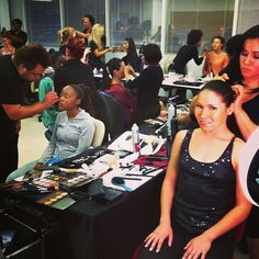 Bellus Academy students in action! hair #makeup #backstage #fashionshow