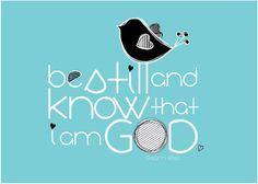 Scripture Art Be Still and Know Christian art print by amyleeweeks