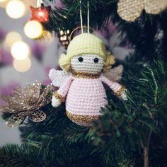 Amigurumi Little Angel Free Pattern – Free Amigurumi Crochet Crochet Angel Pattern, Crochet Doll Tutorial, Crochet Angels, Crochet Amigurumi Free Patterns, Free Crochet, Crochet Dolls, Crochet Geek, Crochet Ideas, Crochet Christmas Ornaments