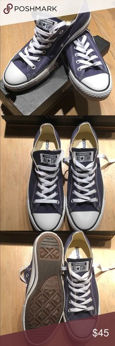 Converse All Star Tennis Shoes Brand New  Navy Size 8.5 women / 6.5 men Converse Shoes Sneakers