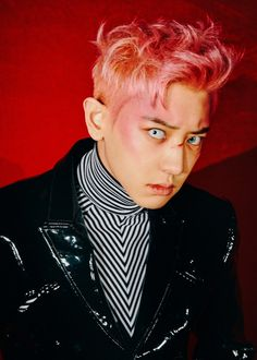 EXO's rapper Chanyeol has dropped a series of teaser images for upcoming group comeback 'Obsession'. The teaser images depicts Chanyeol in two different forms: a serious guy with a beret and a pink-haired rebel. Park Chanyeol, Baekhyun Chanyeol, Kai, Kpop Exo, Teaser, Luhan And Kris, Exo Album, Exo Official, Kim Minseok