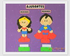 Decoração tema Super Heróis Para Prof. Carine de Videira/SC