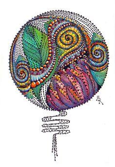 Tangle Doodle, Tangle Art, Doodles Zentangles, Zen Doodle, Zentangle Patterns, Doodle Art, Doodle Inspiration, Zen Art, Fractal Art