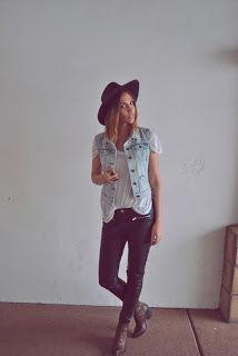 Be Stylish and Beautiful: How To Wear: A Denim Vest