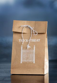 Quick trick or treat bags make the perfect favor.