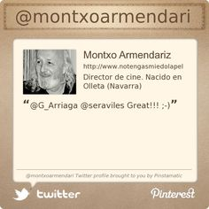@montxoarmendari's Twitter profile courtesy of @Pinstamatic (http://pinstamatic.com)