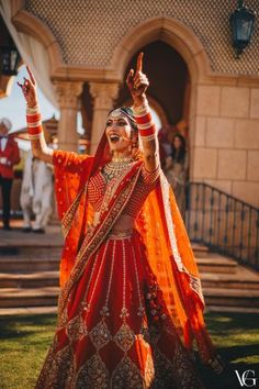 An international wedding with quintessential Indian elements, this was a perfect celebration! Simrun and Kevin knew what they wanted the day they decided to get married and their vision was executed a. Indian Wedding Gowns, Indian Bridal Lehenga, Red Lehenga, Indian Bridal Outfits, Indian Bridal Wear, Desi Wedding, Sabyasachi Lehengas, Red Wedding Lehenga, Saree