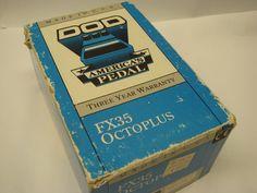 DOD FX35 Octoplus Guitar Effects Pedal Made in U s A Amp Bass Boss Vintage Bass Pedals, Guitar Effects Pedals, Vintage Music, Guitar Amp, Boss, Decorative Boxes, Early Music, Decorative Storage Boxes