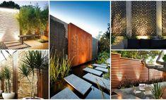 Patio wall decor ideas lovely decoration garden cosy that will steal outdoo Outside Wall Decor, Patio Wall Decor, Stair Decor, Wall Decorations, Outdoor Stairs, Outdoor Walls, Outdoor Rooms, Outdoor Decor, Outdoor Ideas