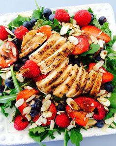 Triple Berry Arugula Salad