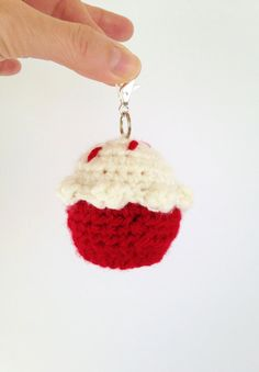 Cupcake EOS Lip Balm Cozy/Holder with Split Ring by TwistyTurtle