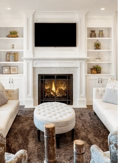 Tv Above Fireplace, Living Room With Fireplace, Fireplace Design, Fireplace Mantels, Mantles, Fireplaces With Tv Above, Fireplace Ideas, Living Room Remodel, Home Living Room