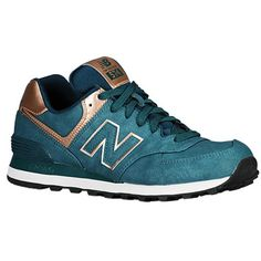 Womens New Balance 574 Emerald Bronze precious metals collection