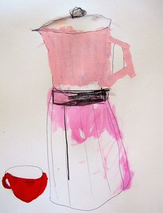 design Image of kitchen drawings- coffee pot Heather Chontos Gravure Illustration, Graphic Illustration, Coffee Illustration, Collages, Design House Stockholm, Kitchen Drawing, Kitchen Art, Kitchen Items, Coffee Drawing