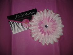 3in Baby Pink Gerber Daisy Head Band  You by LexisBowtiqueNmore, $5.00
