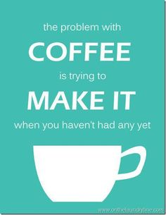 Trying to make coffee before you've had any can definitely be a problem! #coffee #mrcoffee