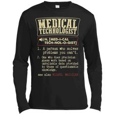 c59d838f Medical Technologist Funny Dictionary Definition T-Shirt – Long Sleeve Tee