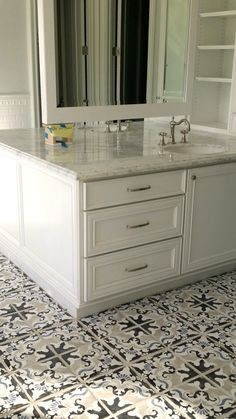 Beautiful Bath Floor In The Lombardia 4 Decorative Tile Designed By Cara Pepe