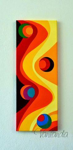 Arte Pop, Acrylic Art, Art Techniques, African Art, Painting Inspiration, Geometric Art, Art Lessons, Canvas Wall Art, Modern Art