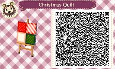 Christmas Quilt - Animal Crossing New Leaf QR Code