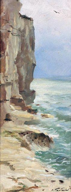 SERGUEÏ TOUTOUNOV - PEINT LA MER ... - Corsica...