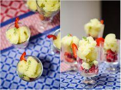 Sorbet de litchi, kiwi și soc. Cu zahăr sau cu miere. - KissTheCook/ #lychee #sorbet #elderberry #flowers