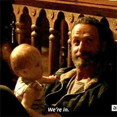 Aww! Rick and Baby Judith ❤