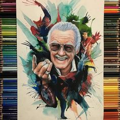 Comic Book Legend Stan Lee is no more with us. Stan Lee was one of the most famous comic book writes and publisher. Marvel Avengers, Marvel Comics, Marvel Fanart, Comic Kunst, Comic Art, Comic Books, Green Lanterns, Character Drawing, Comic Character