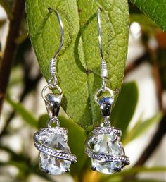 Prehnite & Sterling Silver Drop Earrings by GoldiesNaturalGems, $118.00