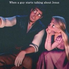 When a guy starts talking about Jesus <3