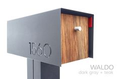 The perfect mailbox design to accent any home.      * Post-mounted modern mailbox     * Durable non-rusting shell and hardware     * custom laser cut numbers, both sides     * USPS approved regulation size C2     * SHIPS 3-4 WEEKS FROM ORDER DATE     * POST NOT INCLUDED -SQUARE | ROUND