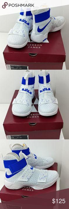 3dfc912c753 LeBron James Soldier 10 white blue men s Size 11 LeBron James Soldier 10  white blue men s Size Wore only once Wonderful condition LeBron James Nike  Shoes ...