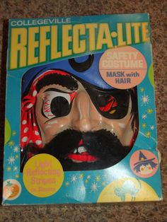WK - Vintage Cap'n Blackbeard HALLOWEEN COSTUME Reflecta-lite Ben Cooper HTF