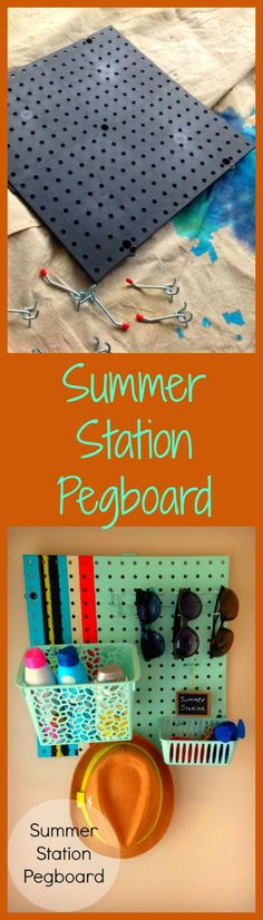 This is an inexpensive and useful organizer and would look great in a garage or kitchen as a catch-all for your summer items.