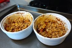 (Vegan and Gluten Free) - Audrey Dunham Dairy Free Apple Crisp, Vegan Apple Crisp, Non Dairy Butter, Oatmeal Toppings, Oat Cookies, Cooked Apples, Desserts To Make, Oven Cooking, Cinnamon Apples