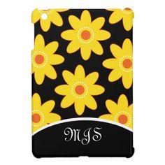 Mini iPad case with daisies.