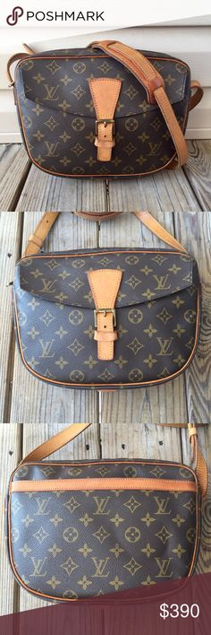 💯Authentic Louis Vuitton Jeune Fille GM Authentic. Date code: MB 8909 Made in France. Canvas has no tears or stains. Vachetta leather is a beautiful honey patina with some creases, light water marks, scratches. Metal fittings have some discoloration. Lining is clean. Pockets are dry, dyed, and clean. Beautiful crossbody bag that fits your basic necessities- phone, small wallet, pen, notepad, lipstick, powder, and a couple more. No dust bag. •NO TRADES•NO OFFERS ON COMMENT BOX• Louis Vuitton…
