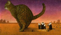 The latest satirical illustrations by Pawel Kuczynski