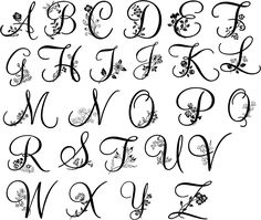 hand embroidered monogram fonts - Google Search